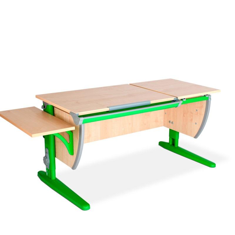 Парта Дэми СУТ-17К Клен ЗеленыйПарты и столы<br><br>Цвет материала: Клен; Цвет каркаса: Зеленый; Бренд: Дэми; Ширина (см): 145; Глубина (см): 55; Высота (см): 53-81,5;