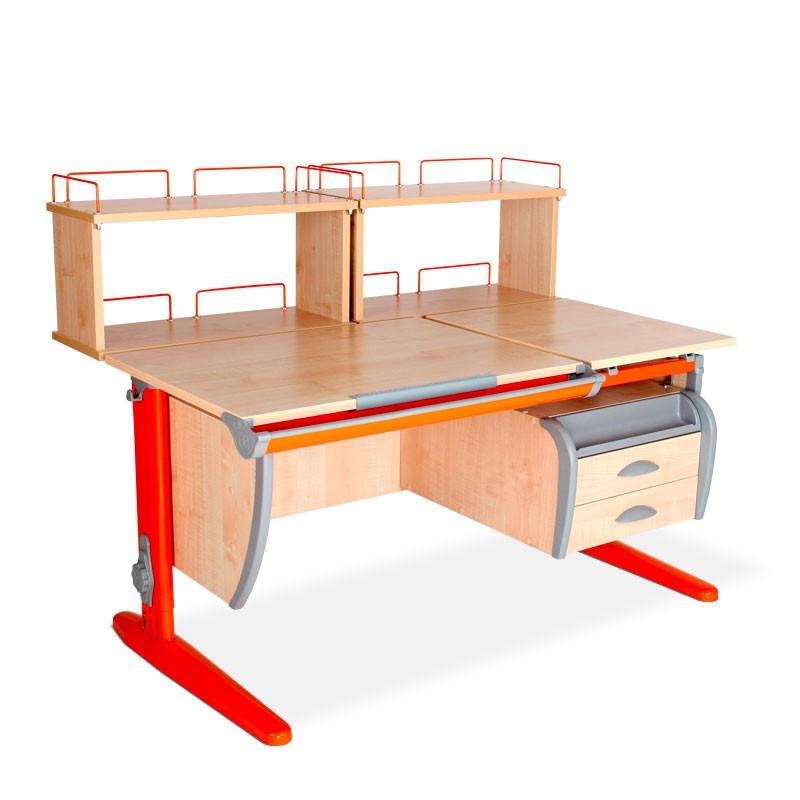 Парта Дэми СУТ-17-04Д2 Клен ОранжевыйПарты и столы<br><br>Цвет материала: Клен; Цвет каркаса: Оранжевый; Бренд: Дэми; Ширина (см): 120; Глубина (см): 80; Высота (см): 53-81,5;