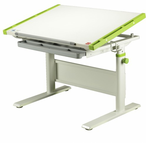Парта-трансформер KidsMaster K-7 Creative (Креатив) desk Дуб беленый ЗеленыйПарты и столы<br><br>Цвет материала: Дуб беленый; Цвет: Зеленый; Бренд: KidsMaster; Ширина (см): 86; Глубина (см): 60; Высота (см): 54-79;