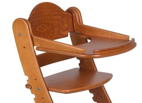"""Столик для детского растущего стула """"Два Кота"""" Темный клен"""