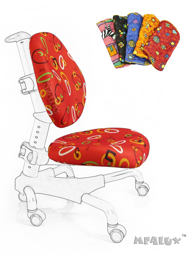 Чехол для кресла Nobel Y-517 / Champion Y-718 Красный с кольцамиАксессуары<br><br>Цвет обивки кресла: Красный с кольцами; Бренд: Mealux;