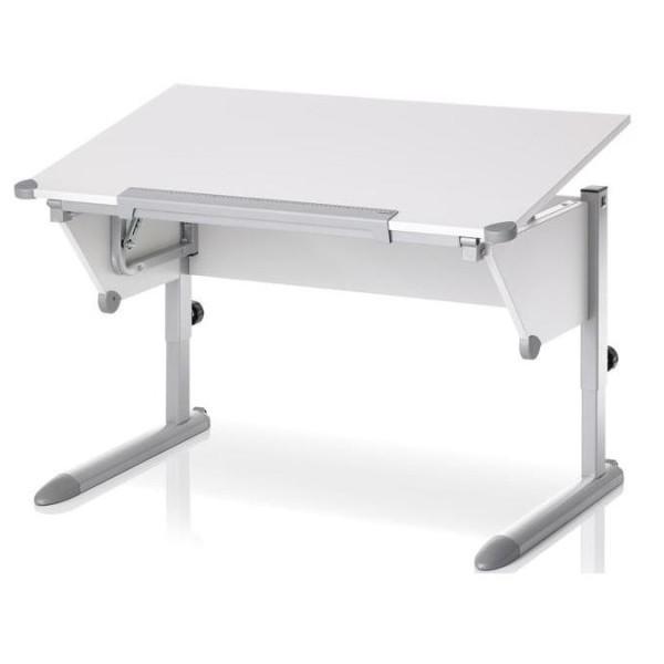 Парта Kettler Cool Top Белый СереброПарты и столы<br><br>Цвет каркаса: Серебро; Цвет ДСП: Белый; Бренд: Kettler; Ширина (см): 110; Глубина (см): 68; Высота (см): 54-83;