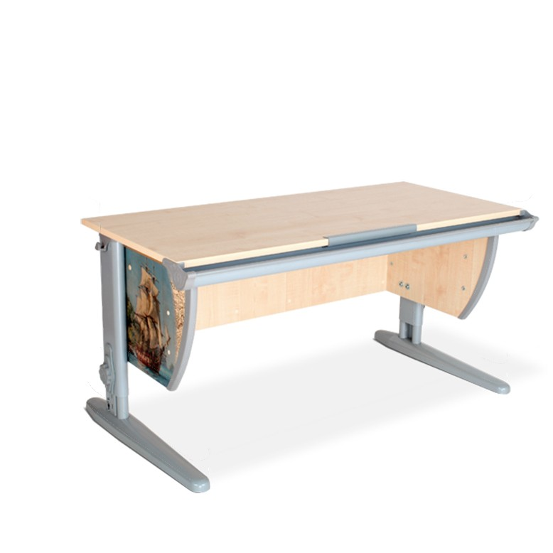 Парта Дэми СУТ-15 Фрегат СерыйПарты и столы<br><br>Цвет материала: Фрегат; Цвет каркаса: Серый; Бренд: Дэми; Ширина (см): 120; Глубина (см): 55; Высота (см): 53-81,5;