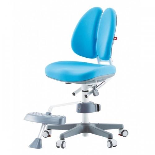 Кресло Duo с подставкой для ног Голубой