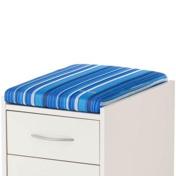 Подушка для тумб Kettler Синий в полоскуАксессуары<br><br>Цвет: Синий в полоску; Бренд: Kettler; Ширина (см): 36; Глубина (см): 55; Высота (см): 6;