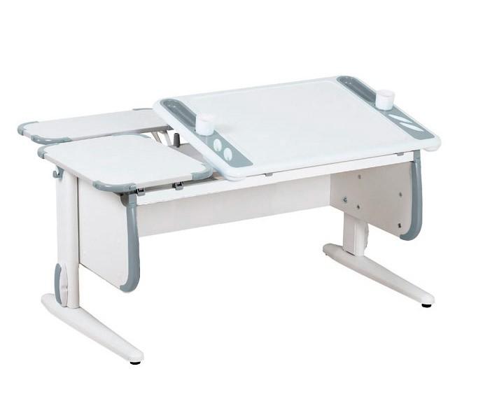 Парта Дэми White-Techno Maxi СУТ-31-01 Белый СерыйПарты и столы<br><br>Цвет материала: Белый; Цвет: Серый; Бренд: Дэми; Ширина (см): 120; Глубина (см): 82; Высота (см): 53-81,5;