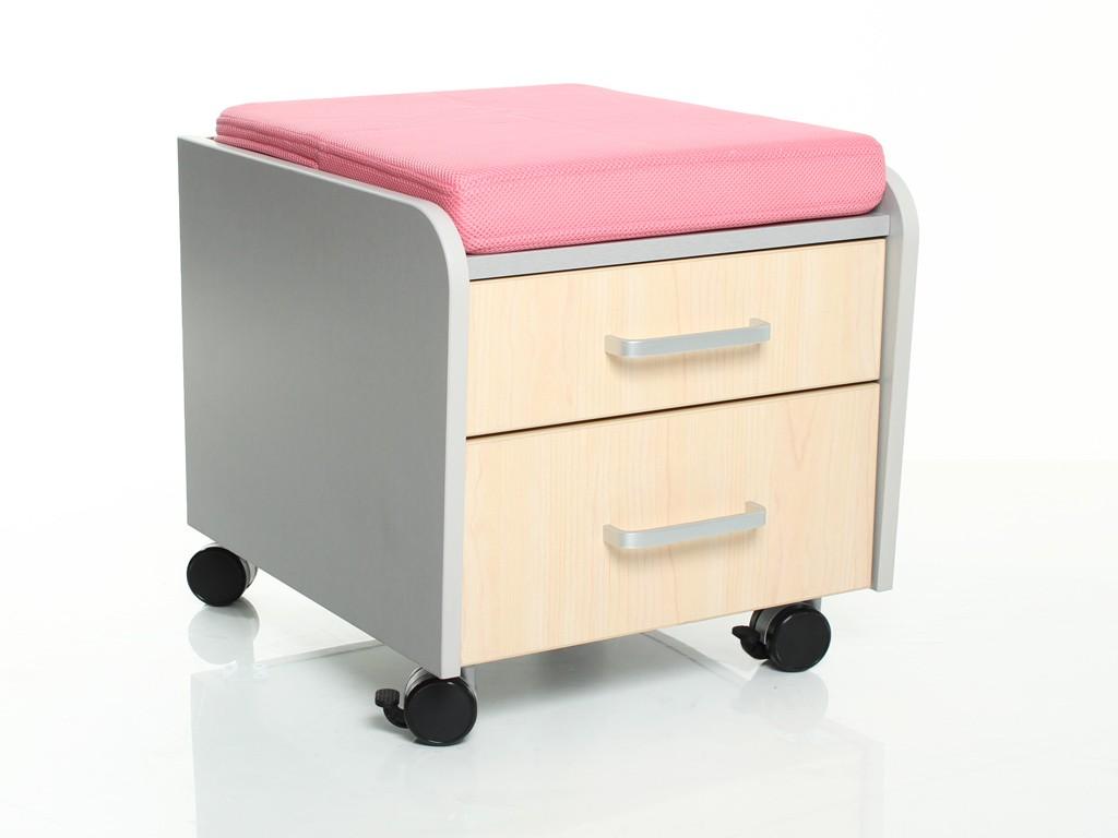 Тумбочка Comf-Pro BD-C2 с подушкой Клен РозовыйТумбы, стеллажи<br><br>Цвет материала: Клен; Цвет обивки кресла: Розовый; Бренд: Comf-Pro; Ширина (см): 41; Глубина (см): 46; Высота (см): 41;