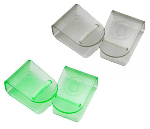 Клипсы (комплект 4 шт.) TCT Nanotec Серый-ЗеленыйАксессуары<br><br>Цвет: Серый-Зеленый; Бренд: TCT Nanotec;