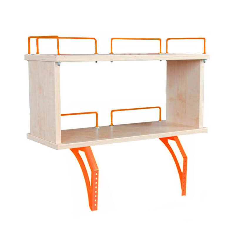 Задняя двухъярусная полка Дэми 60 см для парт СУТ-13/15/17/25 (СУТ.15.240) Клен ОранжевыйТумбы, стеллажи<br><br>Цвет материала: Клен; Цвет каркаса: Оранжевый; Бренд: Дэми; Ширина (см): 60; Глубина (см): 25; Высота (см): 25;