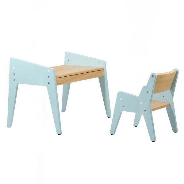 Детский стол и стульчик FunDesk Omino Клен ГолубойПарты и столы<br><br>Цвет материала: Клен; Цвет каркаса: Голубой; Бренд: FunDesk; Ширина (см): 72; Глубина (см): 50; Высота (см): 42-47;
