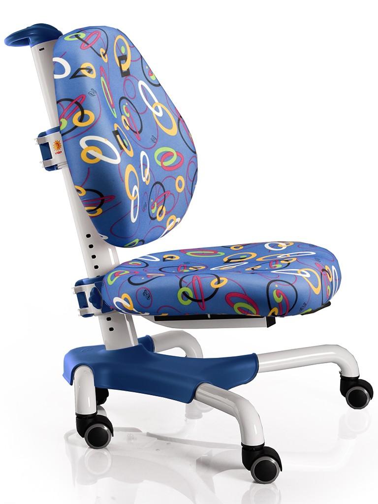 Детское кресло Mealux Y-517 Nobel Синий с кольцами БелыйСтулья и кресла<br><br>Цвет обивки кресла: Синий с кольцами; Цвет каркаса: Белый; Бренд: Mealux; Ширина (см): 53; Глубина (см): 58; Высота (см): 77;