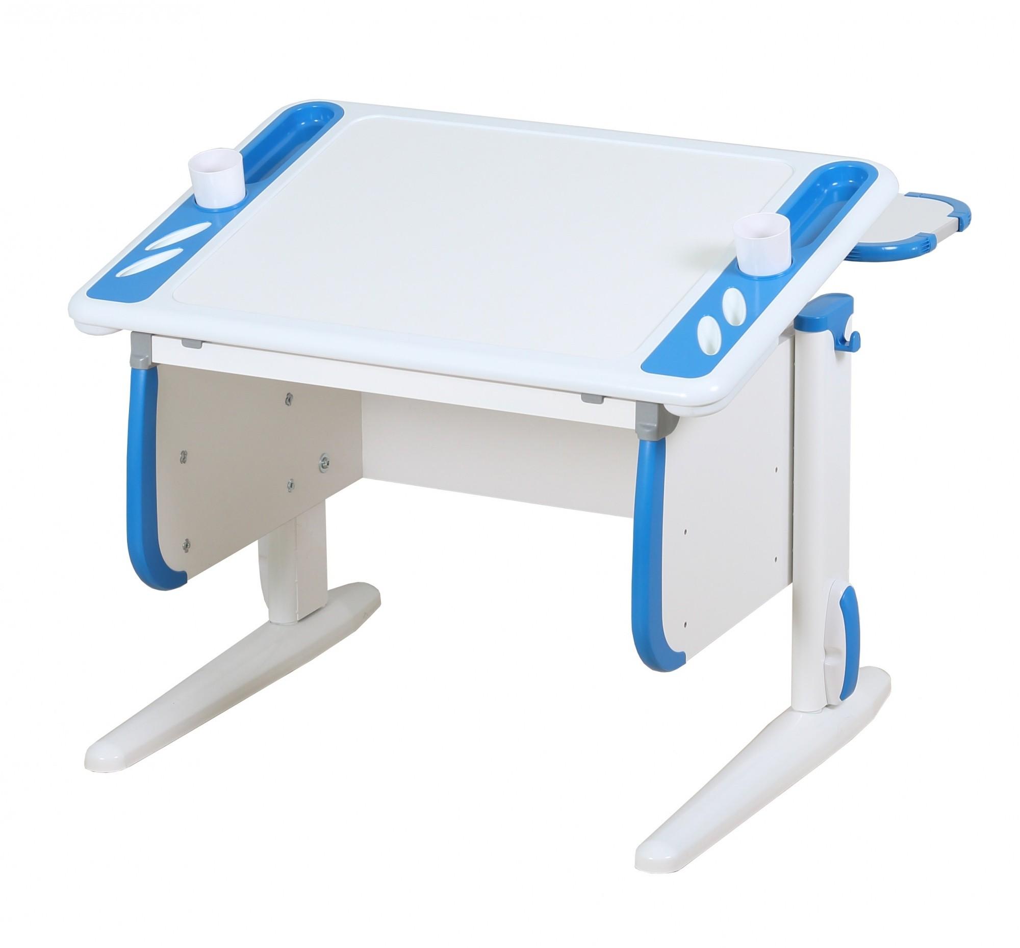 Парта Дэми White-Techno Mini СУТ-26-01 Белый СинийПарты и столы<br><br>Цвет материала: Белый; Цвет: Синий; Бренд: Дэми; Ширина (см): 80; Глубина (см): 80; Высота (см): 53-81,5;