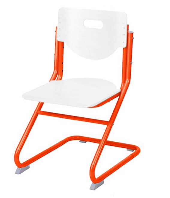 Стул-трансформер Астек SK-2 Белый ОранжевыйСтулья и кресла<br><br>Цвет материала: Белый; Цвет каркаса: Оранжевый; Бренд: Астек; Ширина (см): 41; Глубина (см): 39; Высота (см): 67;