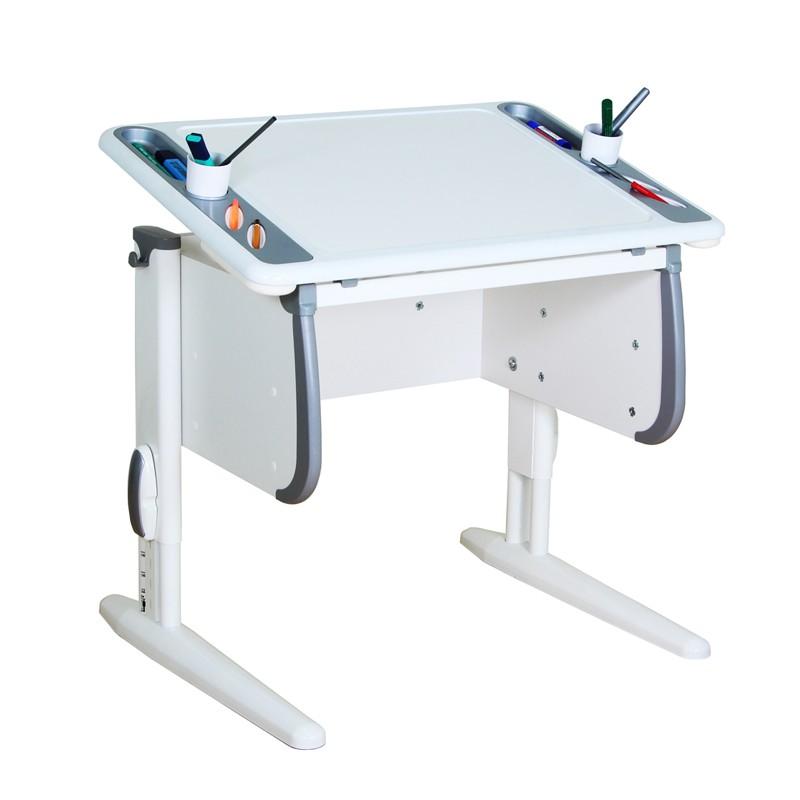 Парта Дэми White-Techno Mini СУТ-26 Белый СерыйСУТ-26<br><br>Цвет материала: Белый; Цвет: Серый; Бренд: Дэми; Ширина (см): 80; Глубина (см): 55; Высота (см): 53-81,5;