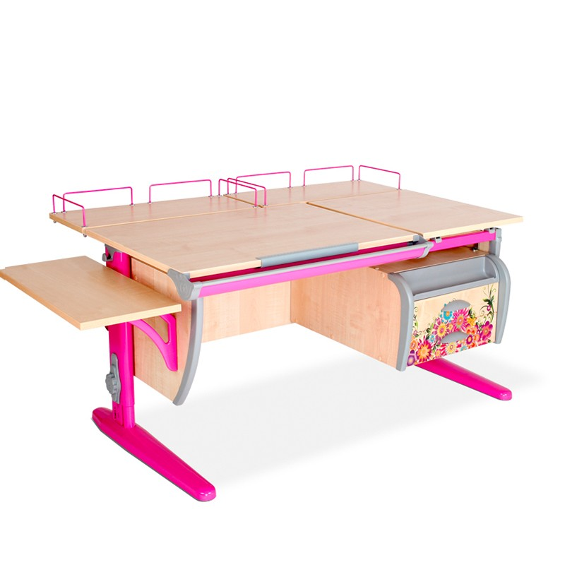 Парта Дэми СУТ-17-05 Цветы РозовыйПарты и столы<br><br>Цвет материала: Цветы; Цвет каркаса: Розовый; Бренд: Дэми; Ширина (см): 145; Глубина (см): 80; Высота (см): 53-81,5;
