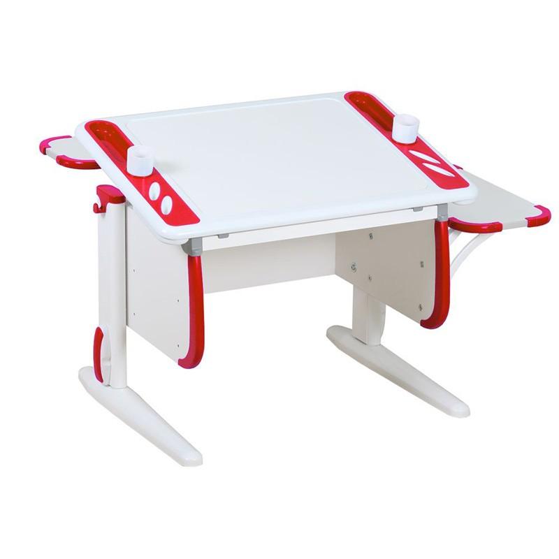 Парта Дэми White-Techno Mini СУТ-26-02 Белый КрасныйПарты и столы<br><br>Цвет материала: Белый; Цвет: Красный; Бренд: Дэми; Ширина (см): 105; Глубина (см): 80; Высота (см): 53-81,5;