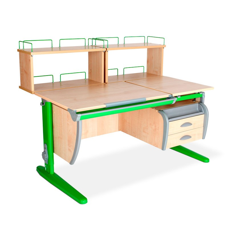 Парта Дэми СУТ-17-04Д2 Клен ЗеленыйПарты и столы<br><br>Цвет материала: Клен; Цвет каркаса: Зеленый; Бренд: Дэми; Ширина (см): 120; Глубина (см): 80; Высота (см): 53-81,5;