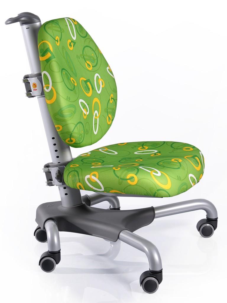 Детское кресло Mealux Y-517 Nobel Зеленый с кольцами СереброСтулья и кресла<br><br>Цвет обивки кресла: Зеленый с кольцами; Цвет каркаса: Белый; Бренд: Mealux; Ширина (см): 53; Глубина (см): 58; Высота (см): 77;
