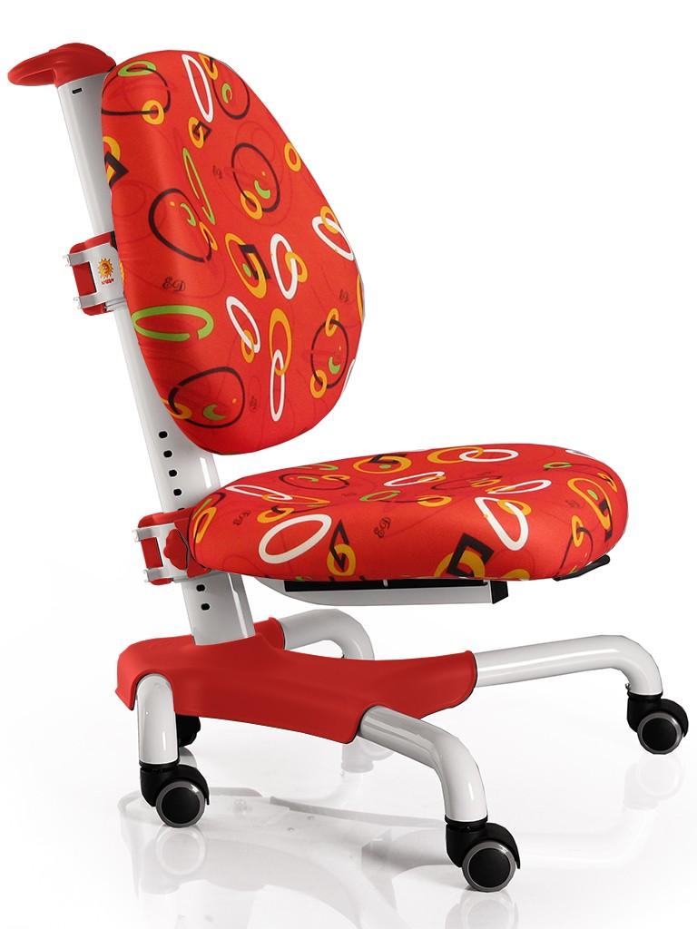 Детское кресло Mealux Y-517 Nobel Красный с кольцами БелыйСтулья и кресла<br><br>Цвет обивки кресла: Красный с кольцами; Цвет каркаса: Белый; Бренд: Mealux; Ширина (см): 53; Глубина (см): 58; Высота (см): 77;
