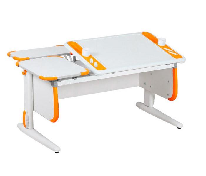 Парта Дэми White-Techno Maxi СУТ-31-01 Белый ОранжевыйПарты и столы<br><br>Цвет материала: Белый; Цвет: Оранжевый; Бренд: Дэми; Ширина (см): 120; Глубина (см): 82; Высота (см): 53-81,5;