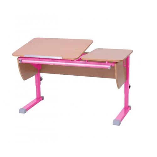 Парта Астек Твин Бук РозовыйПарты и столы<br><br>Цвет материала: Бук; Цвет каркаса: Розовый; Бренд: Астек; Ширина (см): 115; Глубина (см): 58; Высота (см): 53;