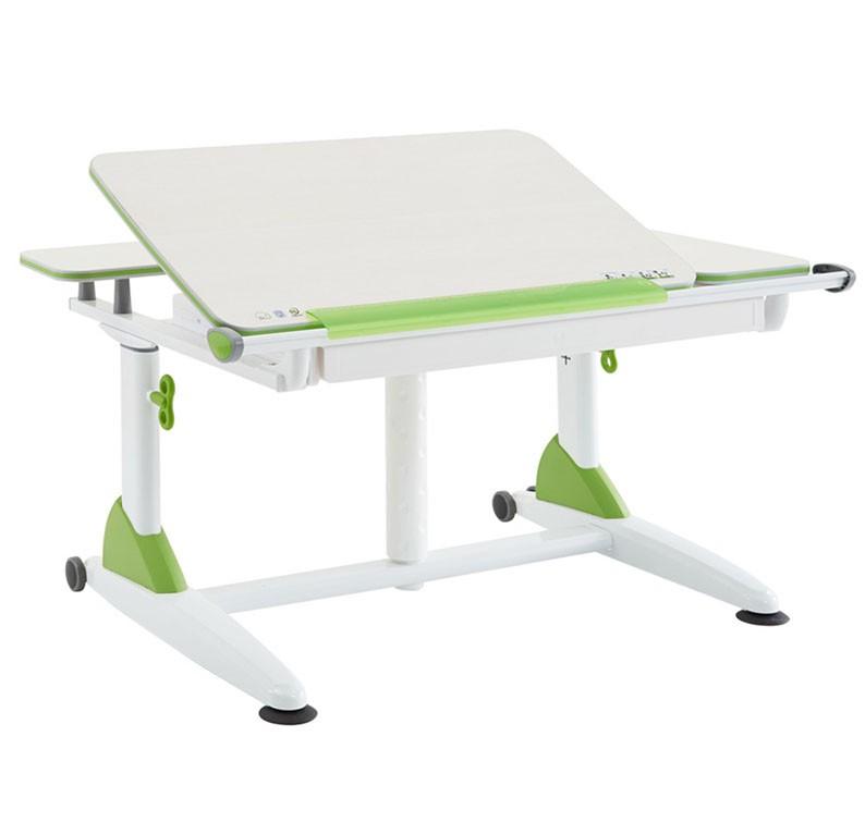 Парта TCT Nanotec Эргономик G6+XS Белый ЗеленыйПарты и столы<br><br>Цвет каркаса: Белый; Цвет: Зеленый; Бренд: TCT Nanotec; Ширина (см): 102; Глубина (см): 75; Высота (см): 53-83;