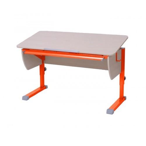 Парта Астек Моно Береза ОранжевыйПарты и столы<br><br>Цвет материала: Береза; Цвет каркаса: Оранжевый; Бренд: Астек; Ширина (см): 115; Глубина (см): 58; Высота (см): 53-78;