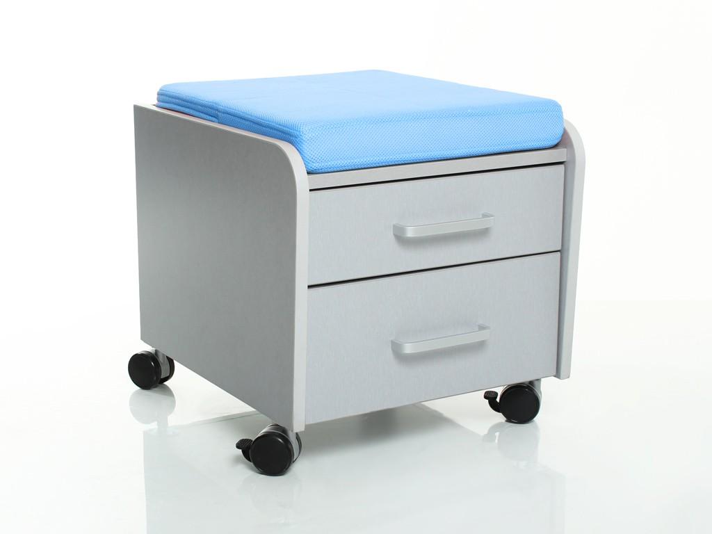 Тумбочка Comf-Pro BD-C2 с подушкой Серый ГолубойТумбы, стеллажи<br><br>Цвет материала: Серый; Цвет обивки кресла: Голубой; Бренд: Comf-Pro; Ширина (см): 41; Глубина (см): 46; Высота (см): 41;