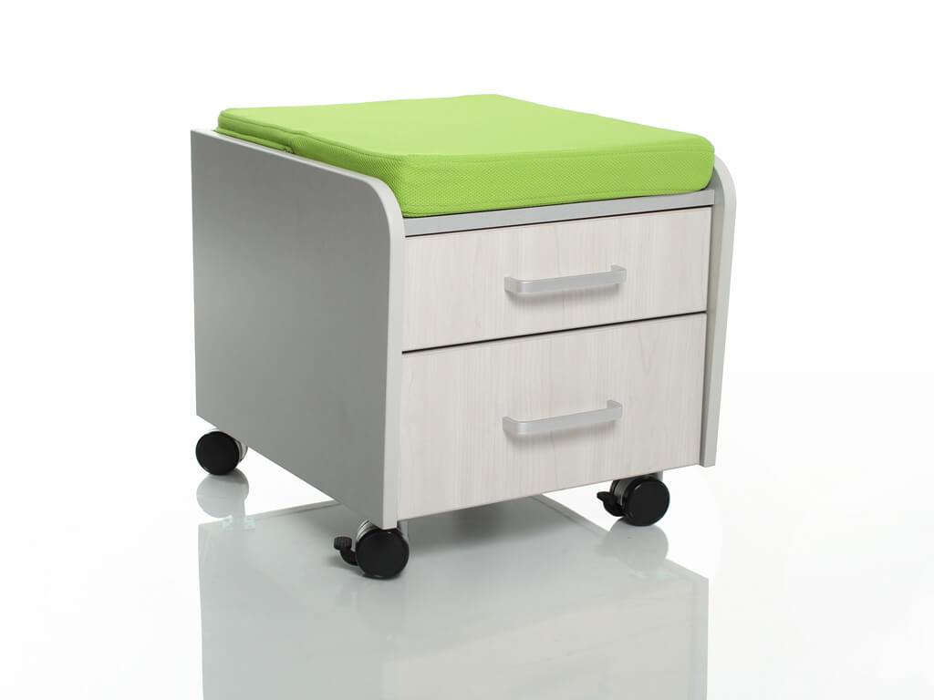 Тумбочка Comf-Pro BD-C2 с подушкой Дуб беленый ЗеленыйТумбы, стеллажи<br><br>Цвет материала: Дуб беленый; Цвет обивки кресла: Зеленый; Бренд: Comf-Pro; Ширина (см): 41; Глубина (см): 46; Высота (см): 41;