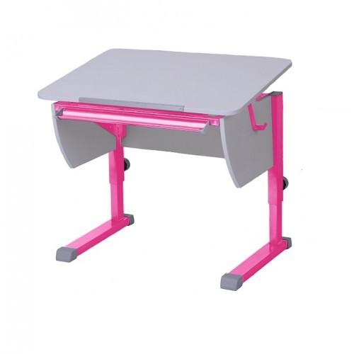 Парта Астек Колибри Белый РозовыйПарты и столы<br><br>Цвет материала: Белый; Цвет каркаса: Розовый; Бренд: Астек; Ширина (см): 80; Глубина (см): 58; Высота (см): 53-78;
