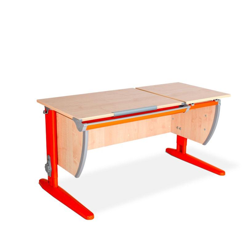 Парта Дэми СУТ-17 Клен ОранжевыйПарты и столы<br><br>Цвет материала: Клен; Цвет каркаса: Оранжевый; Бренд: Дэми; Ширина (см): 120; Глубина (см): 55; Высота (см): 53-81,5;