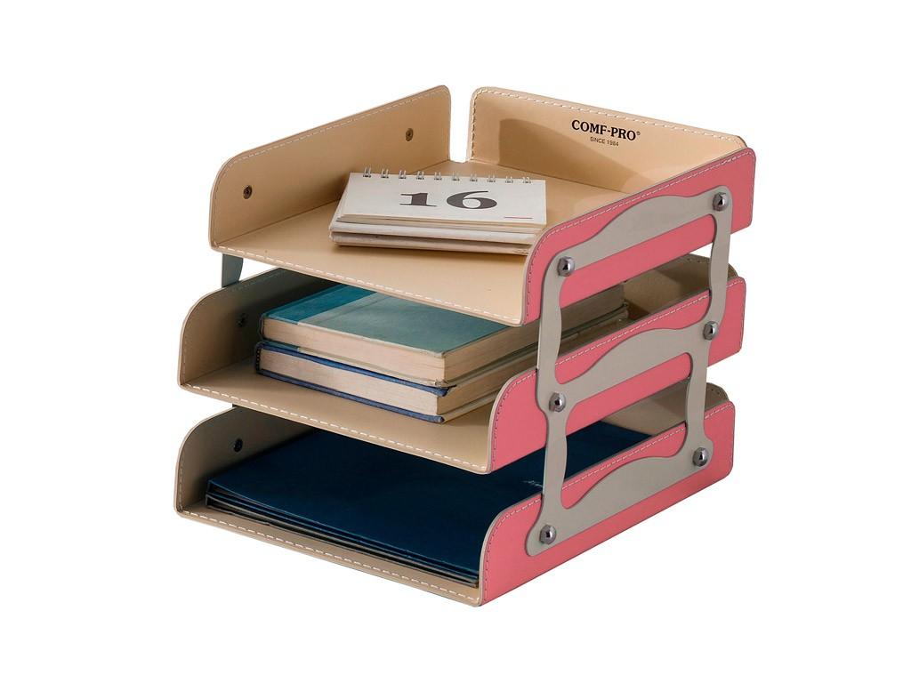 Лоток для бумаг Comf-Pro KS-05 РозовыйАксессуары<br><br>Цвет: Розовый; Бренд: Comf-Pro;