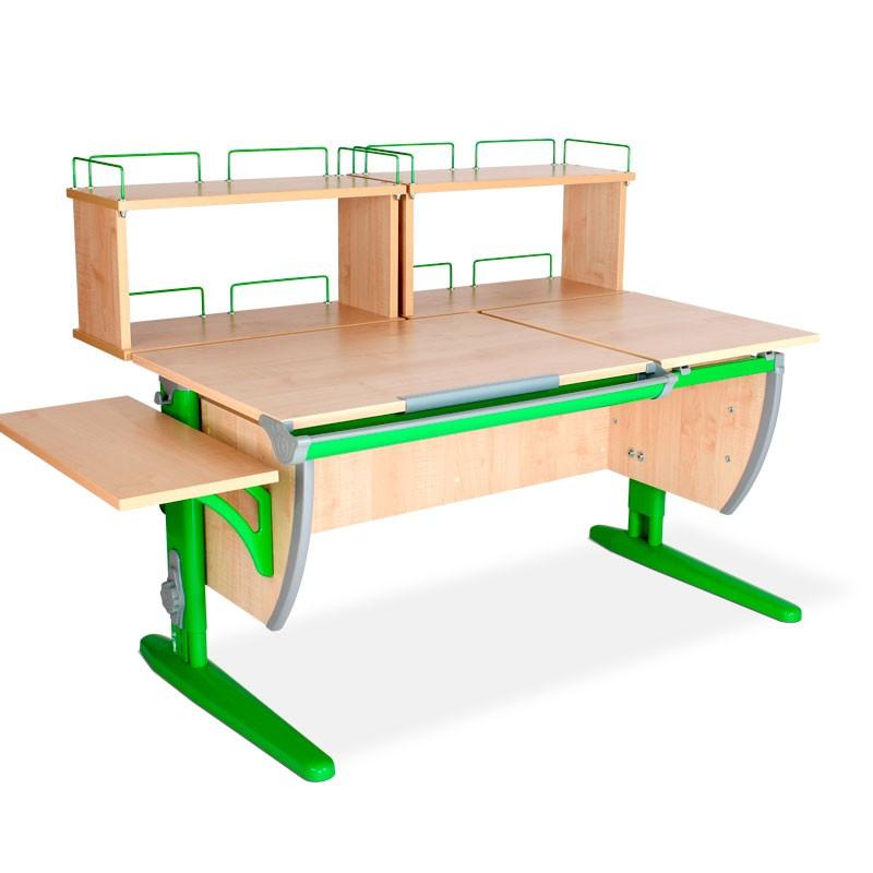 Парта Дэми СУТ-17-02Д2 Клен ЗеленыйПарты и столы<br><br>Цвет материала: Клен; Цвет каркаса: Зеленый; Бренд: Дэми; Ширина (см): 145; Глубина (см): 80; Высота (см): 53-81,5;