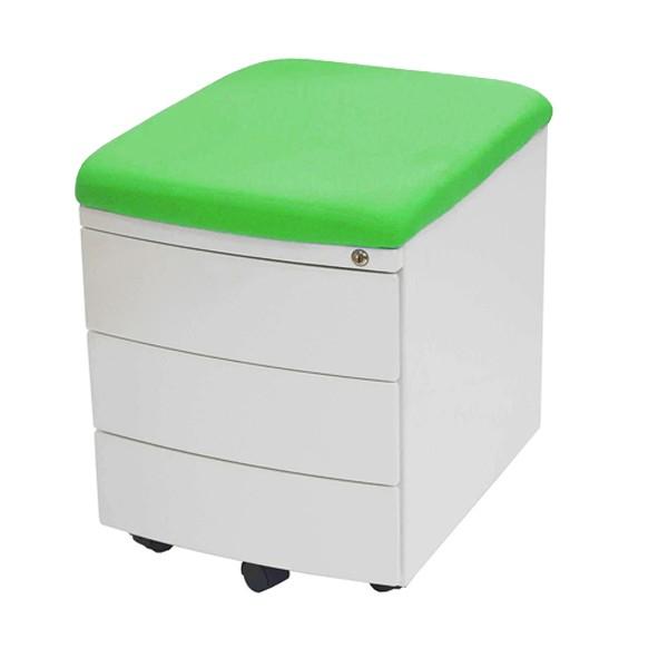 Тумба TCT Nanotec Драйвер 3 ящика Белый зеленый