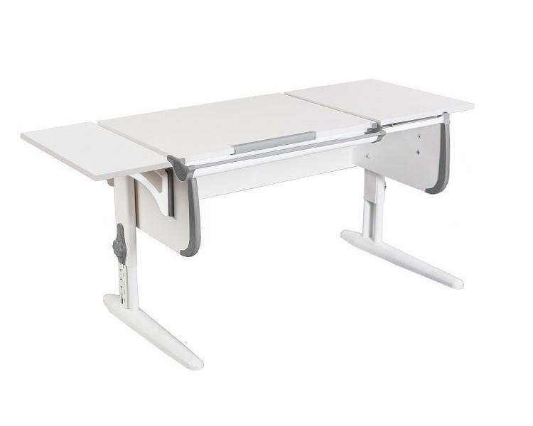 Парта Дэми СУТ-25К White Double Белый СерыйПарты и столы<br><br>Цвет материала: Белый; Цвет каркаса: Белый; Цвет: Серый; Бренд: Дэми; Ширина (см): 145; Глубина (см): 55; Высота (см): 53-81,5;
