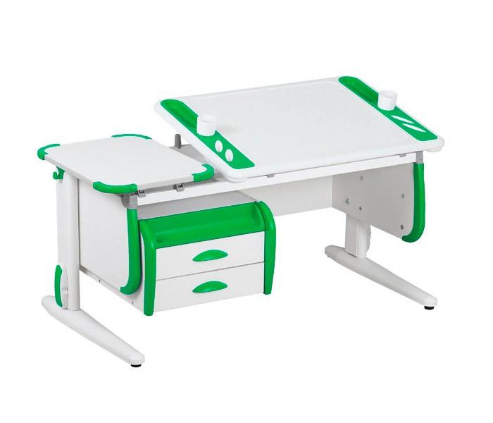 Парта Дэми White-Techno Maxi СУТ-31-03 Белый ЗеленыйПарты и столы<br><br>Цвет материала: Белый; Цвет: Зеленый; Бренд: Дэми; Ширина (см): 120; Глубина (см): 55; Высота (см): 53-81,5;