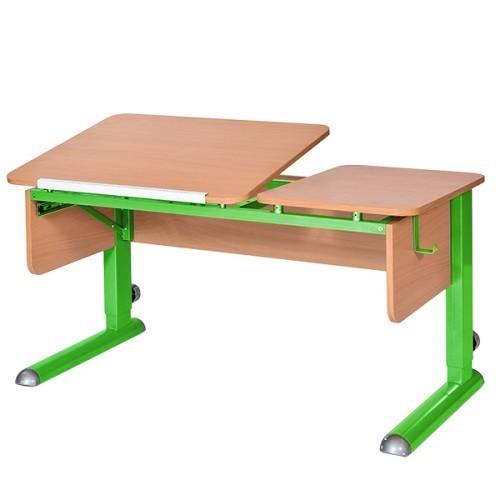 Парта Астек Твин-2 Бук ЗеленыйПарты и столы<br><br>Цвет материала: Бук; Цвет каркаса: Зеленый; Бренд: Астек; Ширина (см): 115; Глубина (см): 58; Высота (см): 53-78;