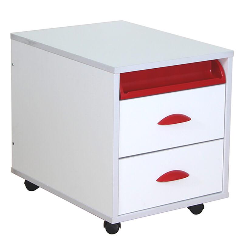 Тумба выкатная Дэми White на 2 ящика (ТУВ-01) КрасныйТумбы, стеллажи<br><br>Цвет: Красный; Бренд: Дэми; Ширина (см): 42,6; Глубина (см): 57; Высота (см): 45,2;