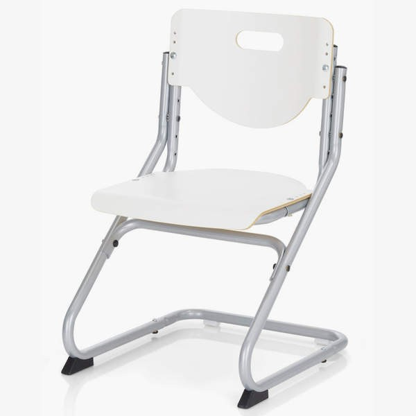 Стул Kettler Chair Белый СереброСтулья и кресла<br><br>Цвет материала: Белый; Цвет каркаса: Серебро; Бренд: Kettler; Ширина (см): 47; Глубина (см): 47; Высота (см): 62-86;