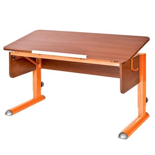 Парта Астек Моно-2 Яблоня ОранжевыйПарты и столы<br><br>Цвет материала: Яблоня; Цвет каркаса: Оранжевый; Бренд: Астек; Ширина (см): 115; Глубина (см): 58; Высота (см): 53-78;