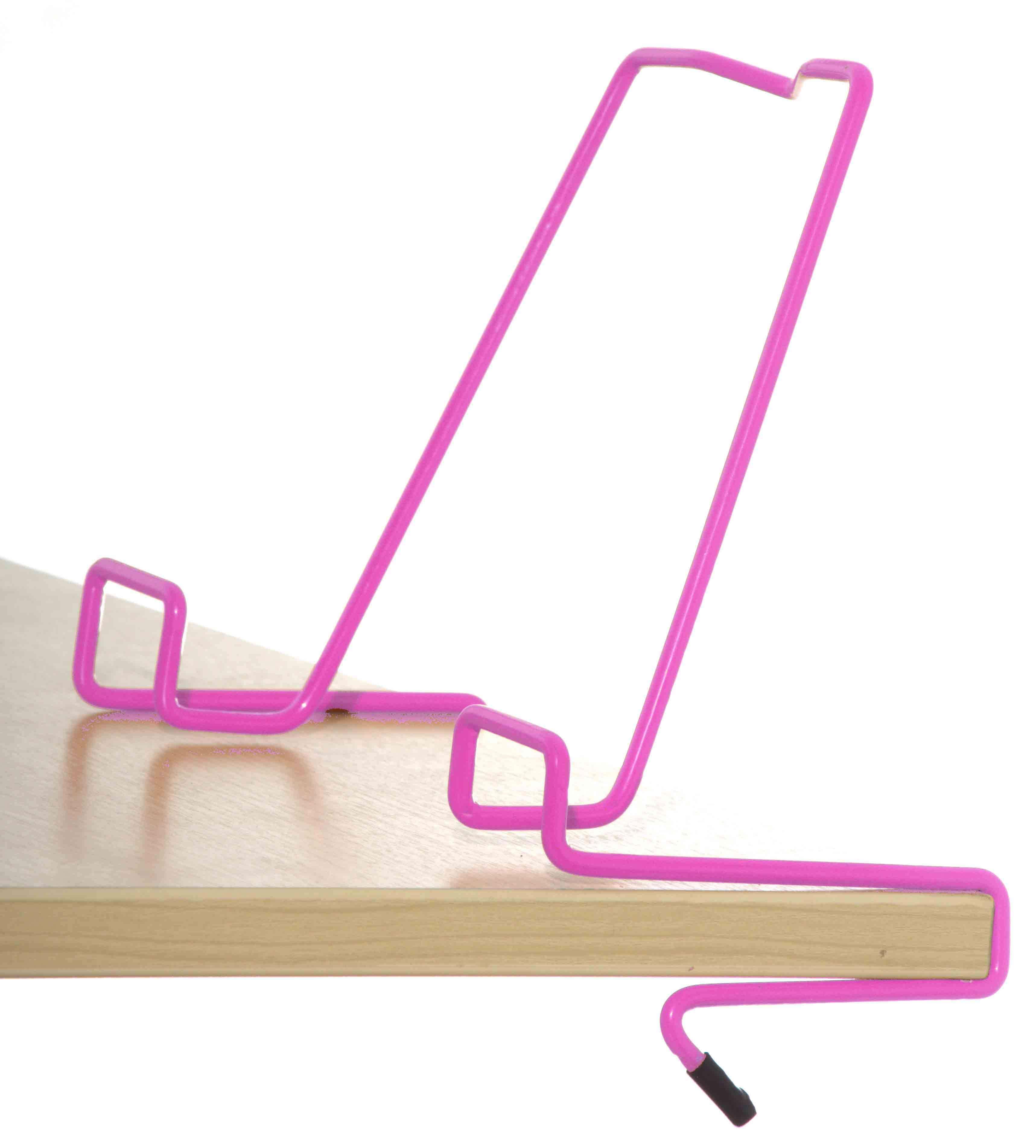Подставка для книг для наклонных столешниц Дэми ПК-01 РозовыйАксессуары<br><br>Цвет: Розовый; Бренд: Дэми; Ширина (см): 33; Глубина (см): 5; Высота (см): 20;