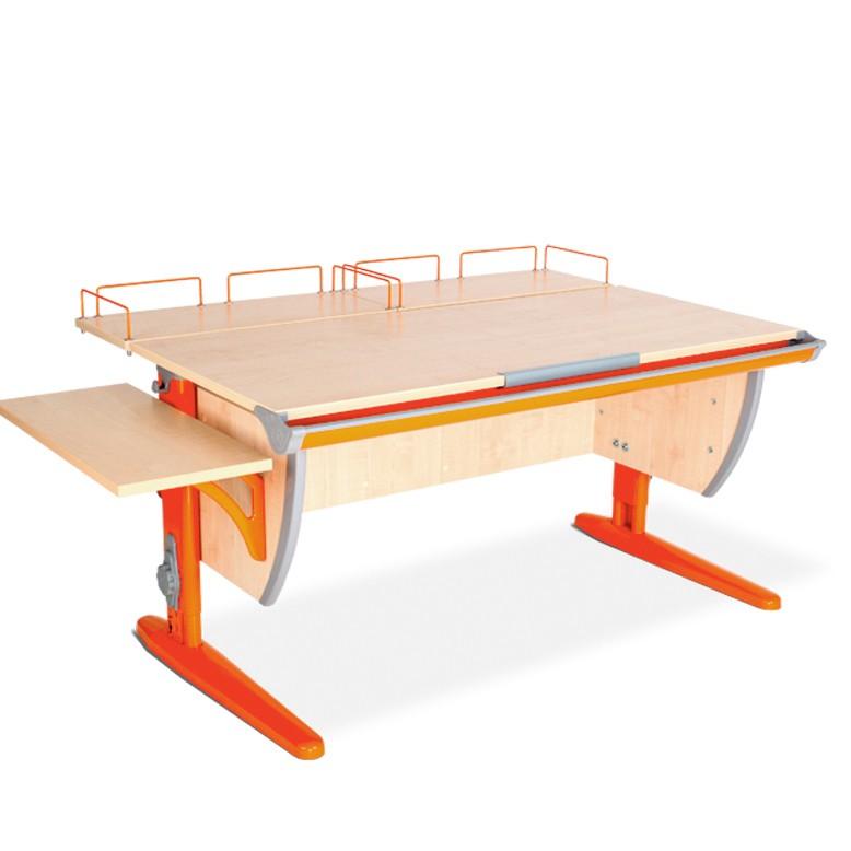 Парта Дэми СУТ-15-02 Клен ОранжевыйПарты и столы<br><br>Цвет материала: Клен; Цвет каркаса: Оранжевый; Бренд: Дэми; Ширина (см): 145; Глубина (см): 80; Высота (см): 53-81,5;