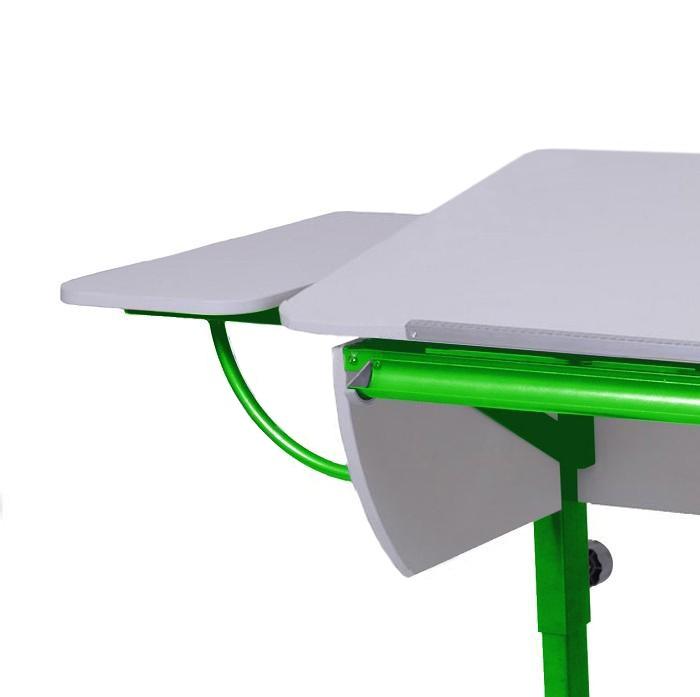 Полка боковая к партам Астек Белый ЗеленыйТумбы, стеллажи<br><br>Цвет материала: Белый; Цвет каркаса: Зеленый; Бренд: Астек; Ширина (см): 25; Глубина (см): 58;