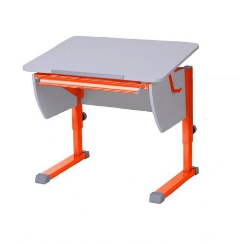 Парта Астек Колибри Белый ОранжевыйПарты и столы<br><br>Цвет материала: Белый; Цвет каркаса: Оранжевый; Бренд: Астек; Ширина (см): 80; Глубина (см): 58; Высота (см): 53-78;