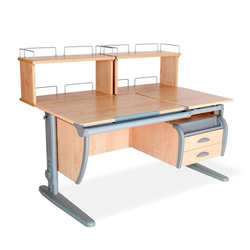 Парта Дэми СУТ-17-04Д2 Клен СерыйПарты и столы<br><br>Цвет материала: Клен; Цвет каркаса: Серый; Бренд: Дэми; Ширина (см): 120; Глубина (см): 80; Высота (см): 53-81,5;