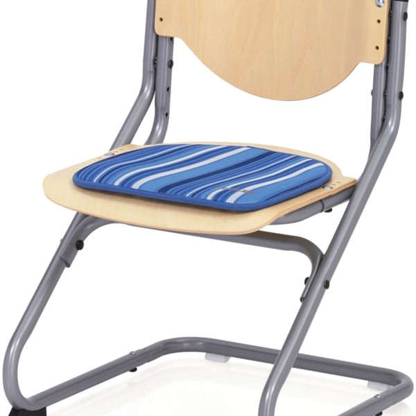 Подушка на липучках для стула Kettler Chair Синий в полоскуАксессуары<br><br>Цвет: Синий в полоску; Бренд: Kettler; Ширина (см): 34; Глубина (см): 34;