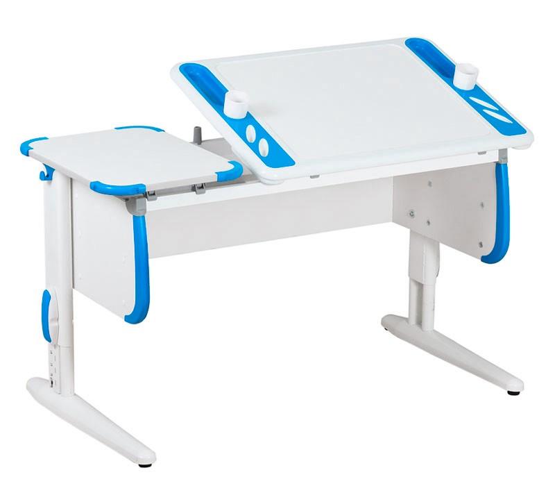Парта Дэми White-Techno Maxi СУТ-31 Белый СинийПарты и столы<br><br>Цвет материала: Белый; Цвет: Синий; Бренд: Дэми; Ширина (см): 120; Глубина (см): 55; Высота (см): 53-81,5;