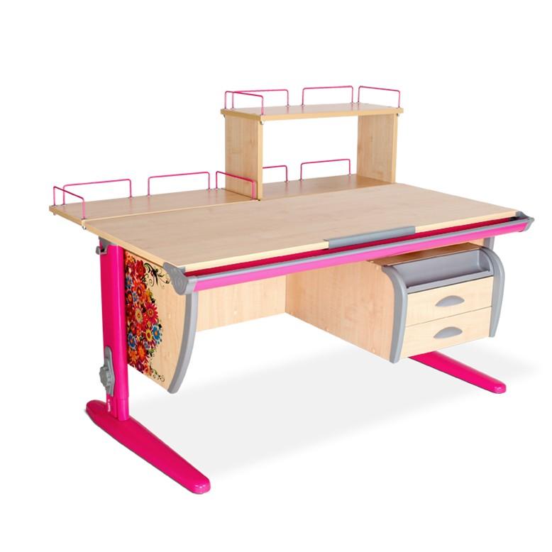 Парта Дэми СУТ-15-04Д Цветы РозовыйПарты и столы<br><br>Цвет материала: Цветы; Цвет каркаса: Розовый; Бренд: Дэми; Ширина (см): 120; Глубина (см): 80; Высота (см): 53-81,5;