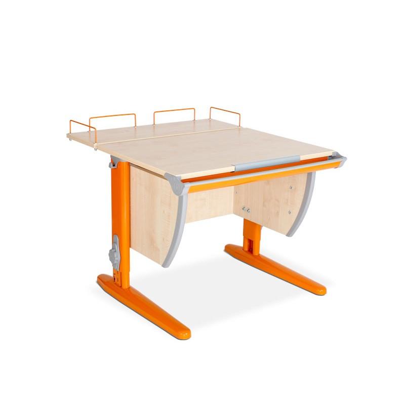 Парта Дэми СУТ-14-01 Клен ОранжевыйПарты и столы<br><br>Цвет материала: Клен; Цвет каркаса: Оранжевый; Бренд: Дэми; Ширина (см): 75; Глубина (см): 80; Высота (см): 53-81,5;