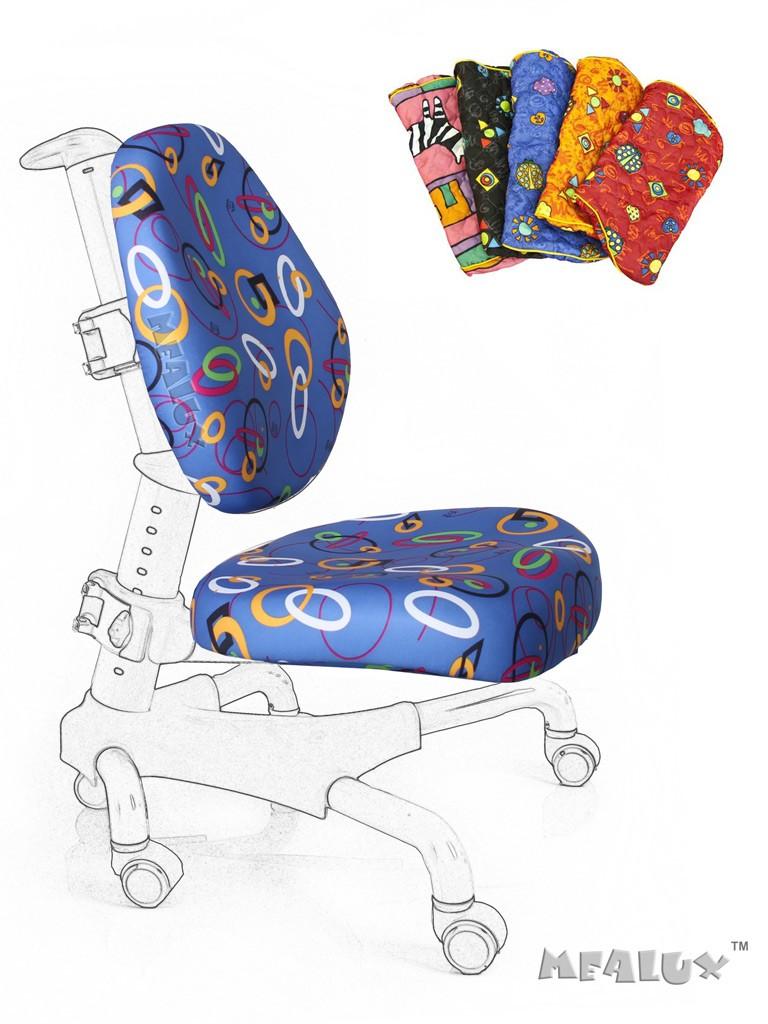 Чехол для кресла Nobel Y-517 / Champion Y-718 Синий с кольцамиАксессуары<br><br>Цвет обивки кресла: Синий с кольцами; Бренд: Mealux;